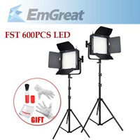 TST 600PCS LED Bi-color Video Light  DSLR Camera Photo Light Dual Color Temperature 3200K 5600K +  2.4M (8ft) Studio Light Stand