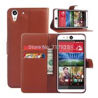 1x Luxury Lichee Folio PU Leather Flip Case For HTC Desire Eye (M910x) With Card Slots & Stand Holder + Free Screen Film