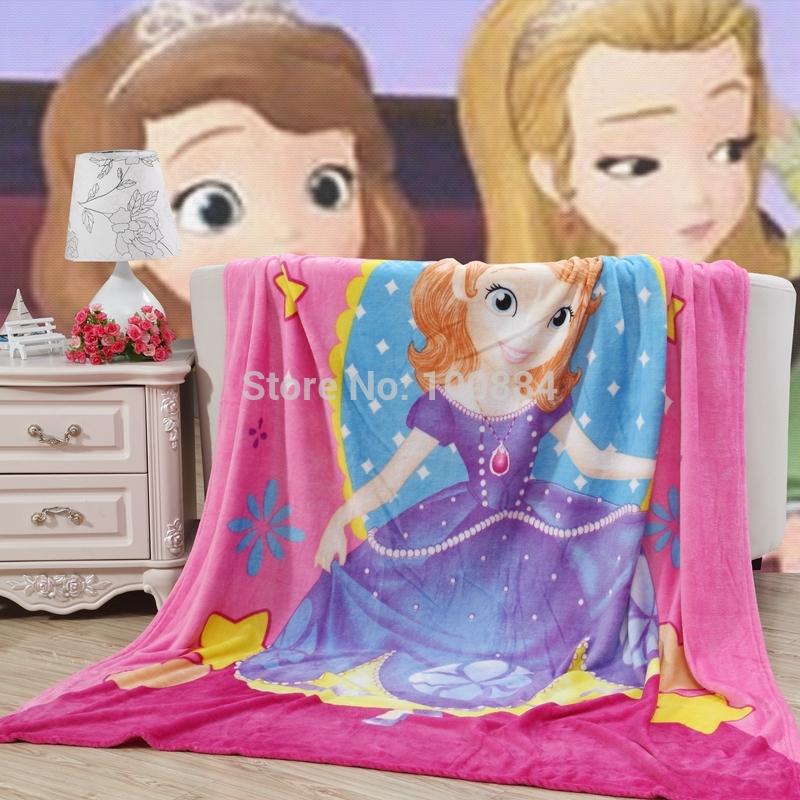 baby blankets girl,150*200cm size kids blanket,flannel coral fleece baby blanket,sofia cartoon princess blanket,girls bed sheet(China (Mainland))