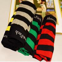 High  Quality 2014 Newest Men's Underwears Cotton Striped Fashion Brand Cuecas Boxer  Men Size XL/XXL,4 Style