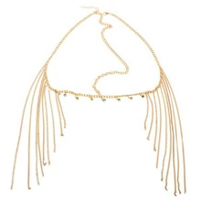 1PC New Rhinestone Tassel Forehead Bohemian Hair Head Side Wave Chain Headband Headpiece Band For Women