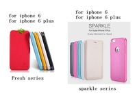 SpecialOffer 1pcs Nillkin for iPhone 6 (4.7``) for iphone 6 plus (5.5``) Fresh / Sparkle series Flip leather case +Retail box