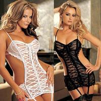 Women Sexy Lingerie Lace Dress Underwear Black Babydoll Sleepwear G-string Hot Jumpsuits Womens Bodysuit Freeshipping