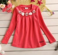 flower girls spring princess dress children foral pure color dresses baby girl patchwork dress kid fashion clothes JL-2233