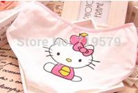 10pc/lot Women Kitty Cotton Girl Waist28x20cm deep Panties Lady Briefs Underwear For Hello Kitty Free shipping Freesize KT7
