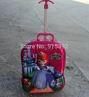16 inch sofia princess children school bag 3D frozen Bag wheeled school bags frozen trolley backpack frozen kids bag