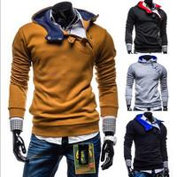 Mens Hoodies Long Sleeve New Fashion Men Outdoors  Sportswear Brand Chain Design Cotton Casual Outwear Fleeces Sport Suit Z1261