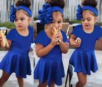 Hot!Baby Girl Casual Dress 2015 New Cotton Sport Girl Costume roupa infantil Retai Toddler Girl Clothing Little Girls Dresses