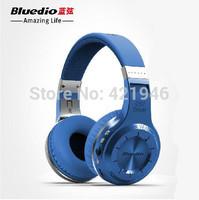 Bluedio H+(Turbine) Bluetooth Stereo Wireless headphones Built-in Mic Micro-SD/FM Radio BT4.1 Over-ear headphones(Black)