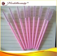 Free shipping 200pcs per lot make up brush,pink mascara wands brush,eyelash extensions brush