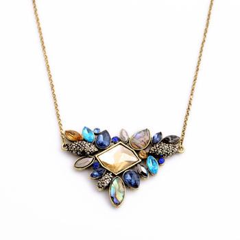 Изысканный горный хрусталь ожерелье 2015 оптовая продажа новые мода тонкий цепи воротник ...