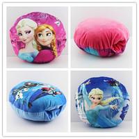 EMS 30pcs 3Styles Frozen Elsa Anna Olaf Stuffed Plush Toys Soft Pillow Girl Hand Warm 30*30cm Wholesale
