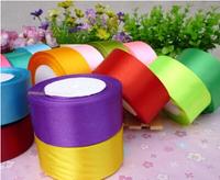 Free shipping 5rolls/lot 3.8cm width wedding/festival decoration satin ribbon single face ribbon,23colors available
