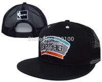 New arrival black basketball teams snapbacks caps mesh cap