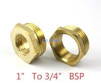 "5 Pieces Brass 1"" Male To 3/4"" Female BSP Reducing Bush Reducer Fitting Gas Air Water Fuel Hose Connector"