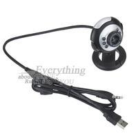 New Arrival Webcam Web Cam Camera 1.3 Mega USB 6 LED for PC for Laptop Wholesale