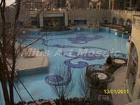 [Mius Art Mosaic]  Blue glass mosaic Swimming pool project blue glass mosaic E7036