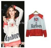 HOT 2015 fashion for Women/Men print U.S. cigarette logo 3D Hoodies figure Pullovers  Galaxy sweatshirts top