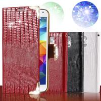 S5 Luxury Bling Diamond Glitter Retro Flip Case for Samsung Galaxy SV i9600 G900 Wallet Stand Women Girls Cover Leather