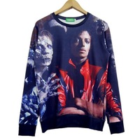 2015 New fashion women/men novelty funny printed The zombies and Michael Jackson 3D Hoodies Galaxy sweatshirts