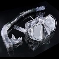 Silicone Snorkel Set Swimming Pool Diving Equipment Anti Fog Goggles Scuba Diving Mask Snorkel Glasses Mascara De Mergulho 7080