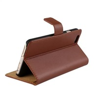"""For iPhone 6 4.7inch / Plus 5.5inch Real Genuine Leather Wallet Stand Case for I6 iPhone6 4.7'' Plus 5.5"""" ID Credit Card Slot"""