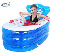 Inflatable bathtub thickening adult bathtub folding tub bath basin bath bucket plastic bath bucket swimming pool for adults(China (Mainland))