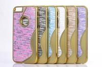 10pcs/lot New Small pretty waist Bullion grain Hard back Case Cover for iphone 6 Plus 5.5 inch mobile phone case 6 color