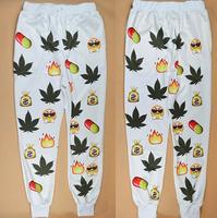 2015 Spring New Women's emoji joggers men's jogging pants print emoji fashion gym running sport sweatpant joggers hip hop pants
