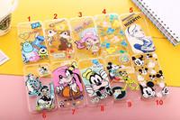 For iPhone 6 4.7,6 Plus 5.5  Ultra Thin Stitch Mickey Minnie Goofy Max Donald Cute Clear TPU Case