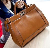 NO.1 NEW 2015 Genuine Leather Handbag Designer Luxury Women Handbag Genuine Leather Famous Brand Handbag Free shipping HOT HN06