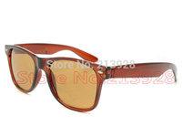 Men's Women's Designer Brand Sunglasses Outdoor travel Sun Glasses Brown frame brown lenses 50mm Glass lenses Excellent quality