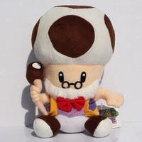 Retail 25cm Super Mario Mushroom Grandpa Plush Toadsworth Plush Toys Doll Free Shipping