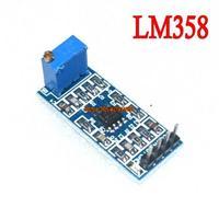 5pcs/lot LM358 100 times gain amplification module operational amplifier module