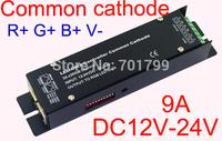 Common cathode DMX constant voltage decoder;DC12-24V input;3CH*3A output(R+G+B+V-)