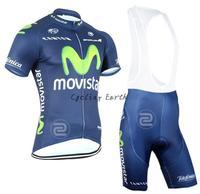 New arrive! Movistar 2015 short sleeve cycling jersey bib shorts set bike bicycle wear clothes jersey pants,free shipping!