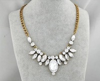 Fashion Jewelry Vintgae Drop Rhinestone Statement Necklace For Woman 2015 New Charm Necklaces and Pendants Gift