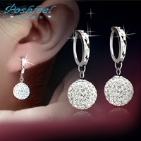 Luxury PF brand earring fashion 925 silver earrings with platinum plated and AAA Austria crystal ball earrings Shambhala