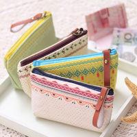 New Korean fashion canvas creative wallet women coin purse short cute women wallets storage and key bag carteira promotion