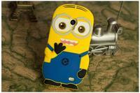 For meizu mx3 Cute Cartoon Soft Silicon Rubber Back Cover Despicable Me 2 Minions Yellow Minion Case FA014