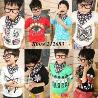 Cotton 2015 children t-shirt child tops tees kids clothes boys blouse girls long sleeve t shirt  cartoon wd