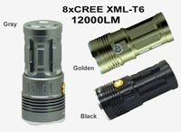 SKYRAY King 8*T6 U2 LED 10000 lumens flashlamp 8xCREE XML-T6 8T6 LED Flashlight torch free shipping