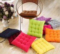 40 * 40cm chair pad cushion Candy colors chair cusion thick sponge cushions home decor cover plaid almofada pillow