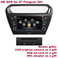 """Free Shipping Better HD 8"""" Peugeot 301 Elisee 2013 Autoradio Car DVD Indash Radio Stereo DVR WIFI 3G Better Service+Better Gifts"""