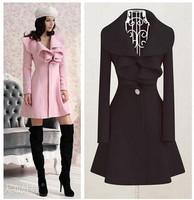 New 2015 Spring Women Woolen Overcoats Fashion Coats Mid Long Trench Coat More Colors casacos femininos
