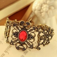 Fashion Jewelry Vintage Bronze Gem Carving Trendy Charm Bracelet & Bangle For Woman 2015 New Gift SALE