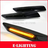 2pcs/lot Smoke Lens LED Fender Side Marker Lamp Turn Signal Light for BMW E82 E88 E60 E61 E90 E91 E92 E93