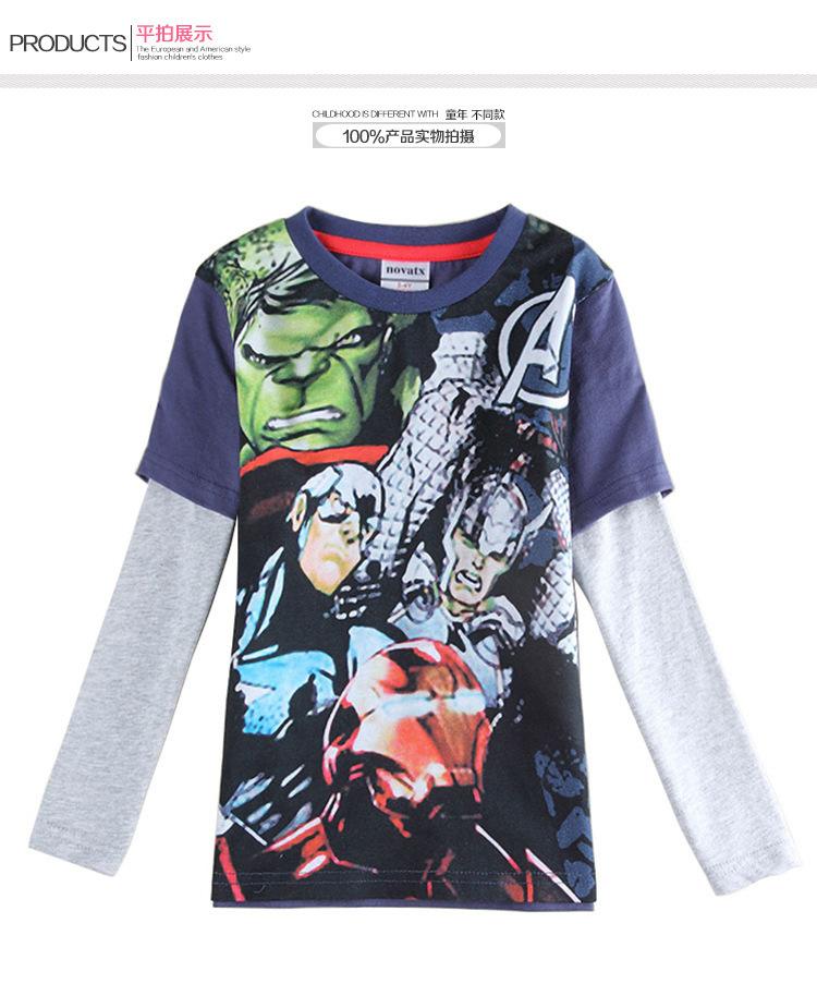 nova kids boy t shirt new 2015 cartoon roupas infantis menino long sleeve casual boys shirts childrens tops wholesale lot(China (Mainland))