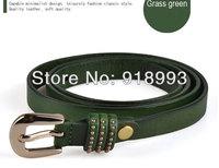 Ms female fine pure leather belt head layer cowhide belt ornaments han edition fashion belts