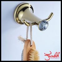 Fashion Brass Bathroom Double Robe Hook, Towel Hooks, Coat Hat Hanger Hook